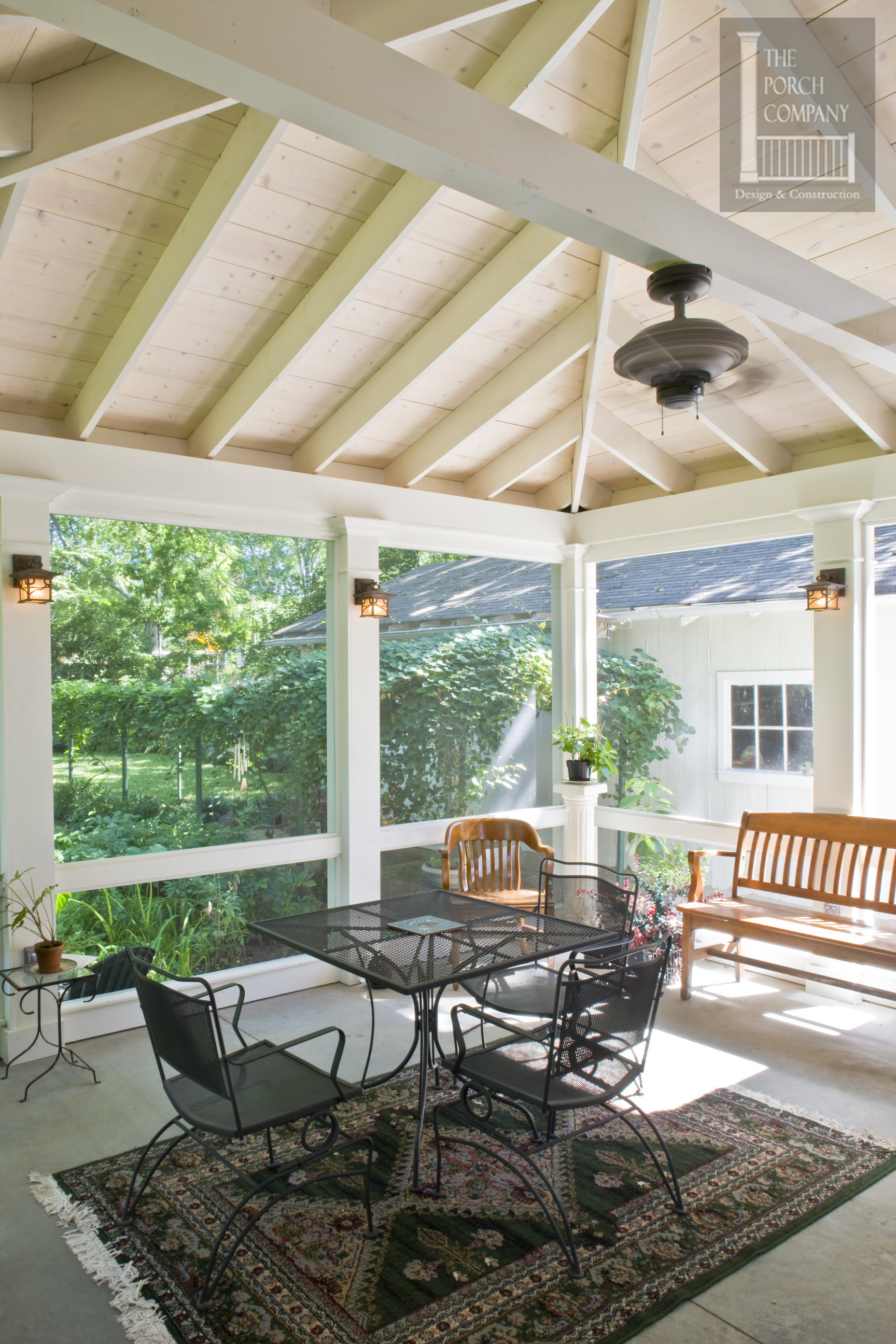 concrete - Screened In Porch Design Ideas