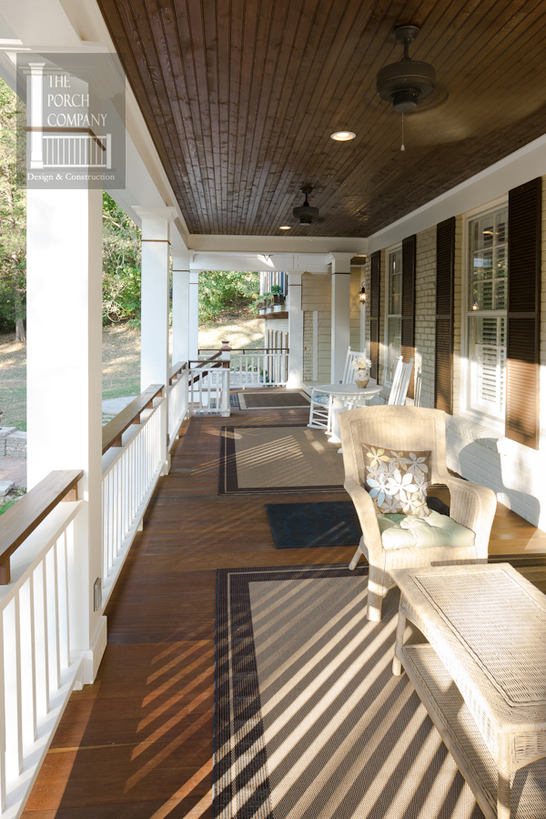 Porch flooring options the porch companythe porch company for Covered porch flooring options