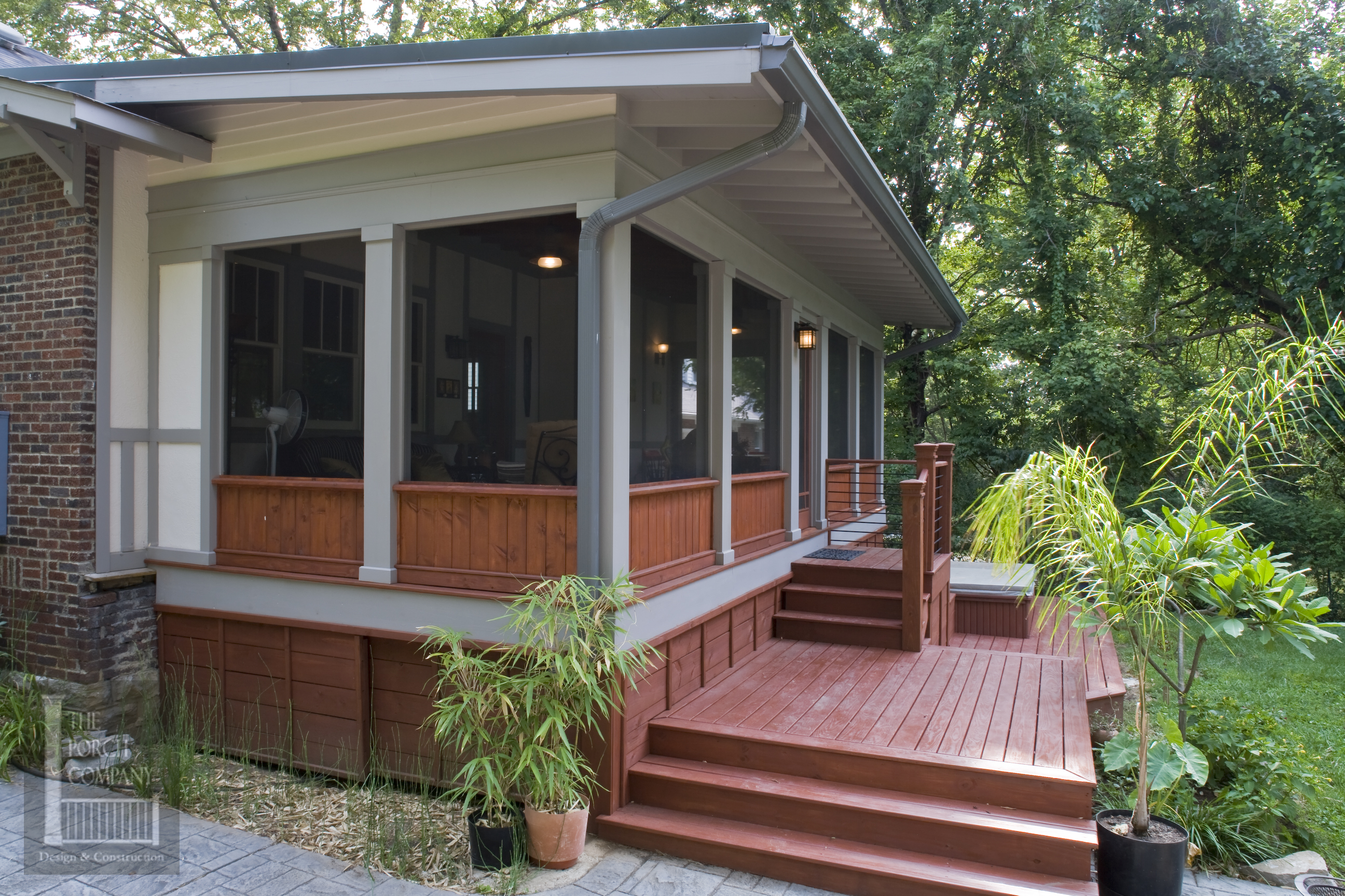 Choosing the right porch roof style the porch companythe for Shed roof screened porch