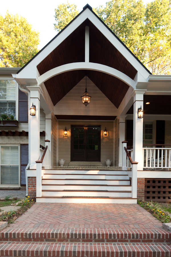 Porch ceiling beams the porch companythe porch company for Arched ceiling beams