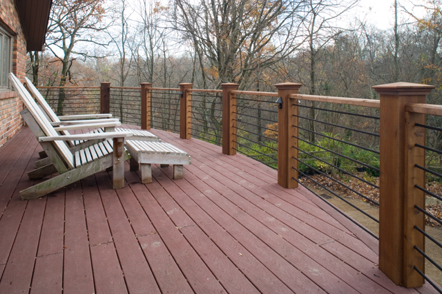 Non traditional railings for your porch or deck the
