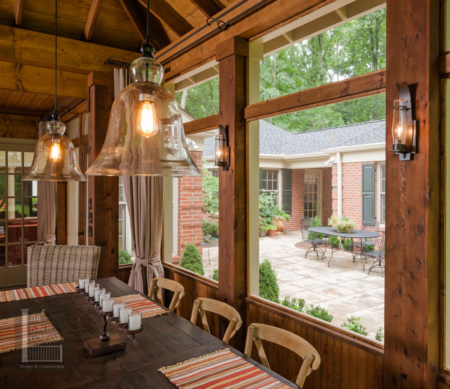 Screened Porch on lake house deck designs