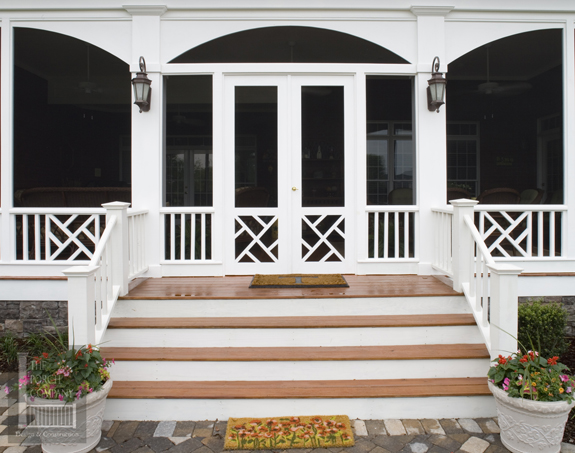 custom porch door with chippendale and spindles & custom porch door with chippendale and spindles - The Porch ...