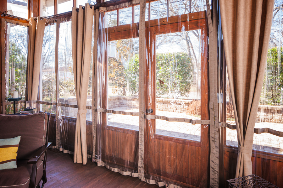 Screen Porch Weather Curtains Garage Door Weather Curtain