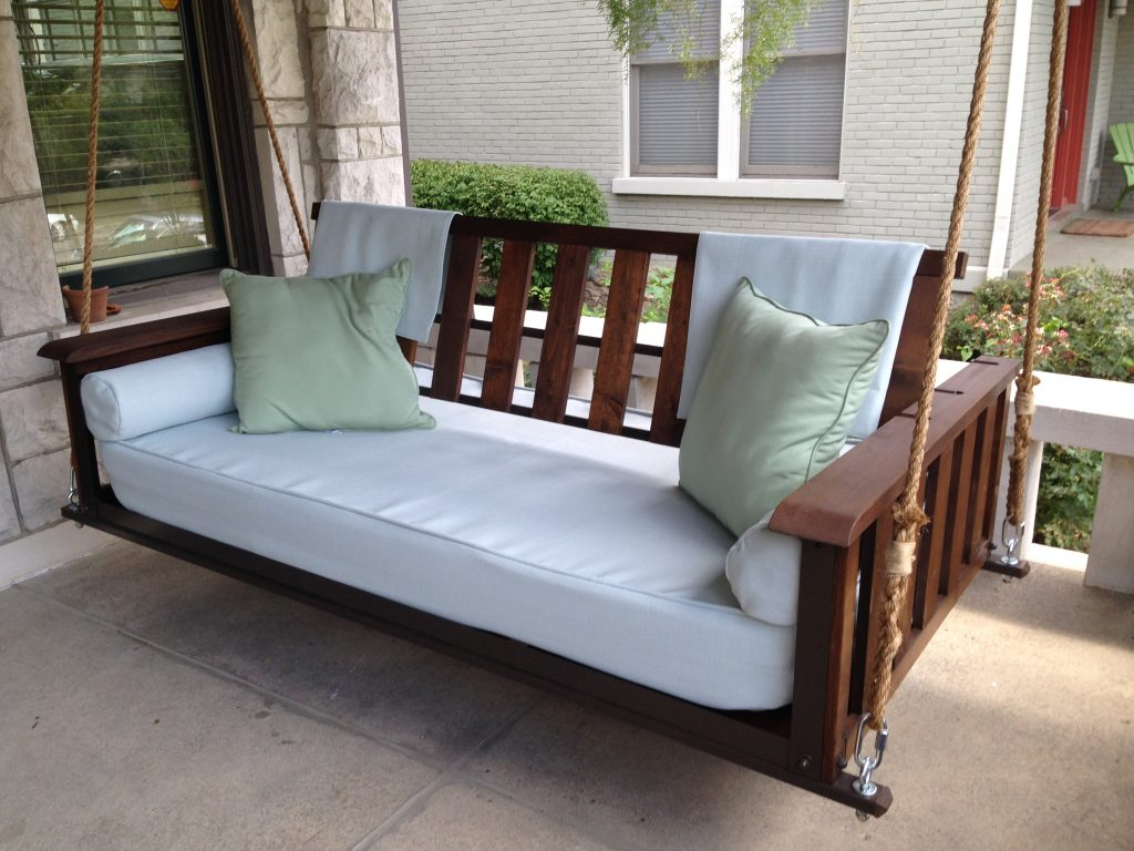 The Craftsman Pine Bed Swing The Porch Company