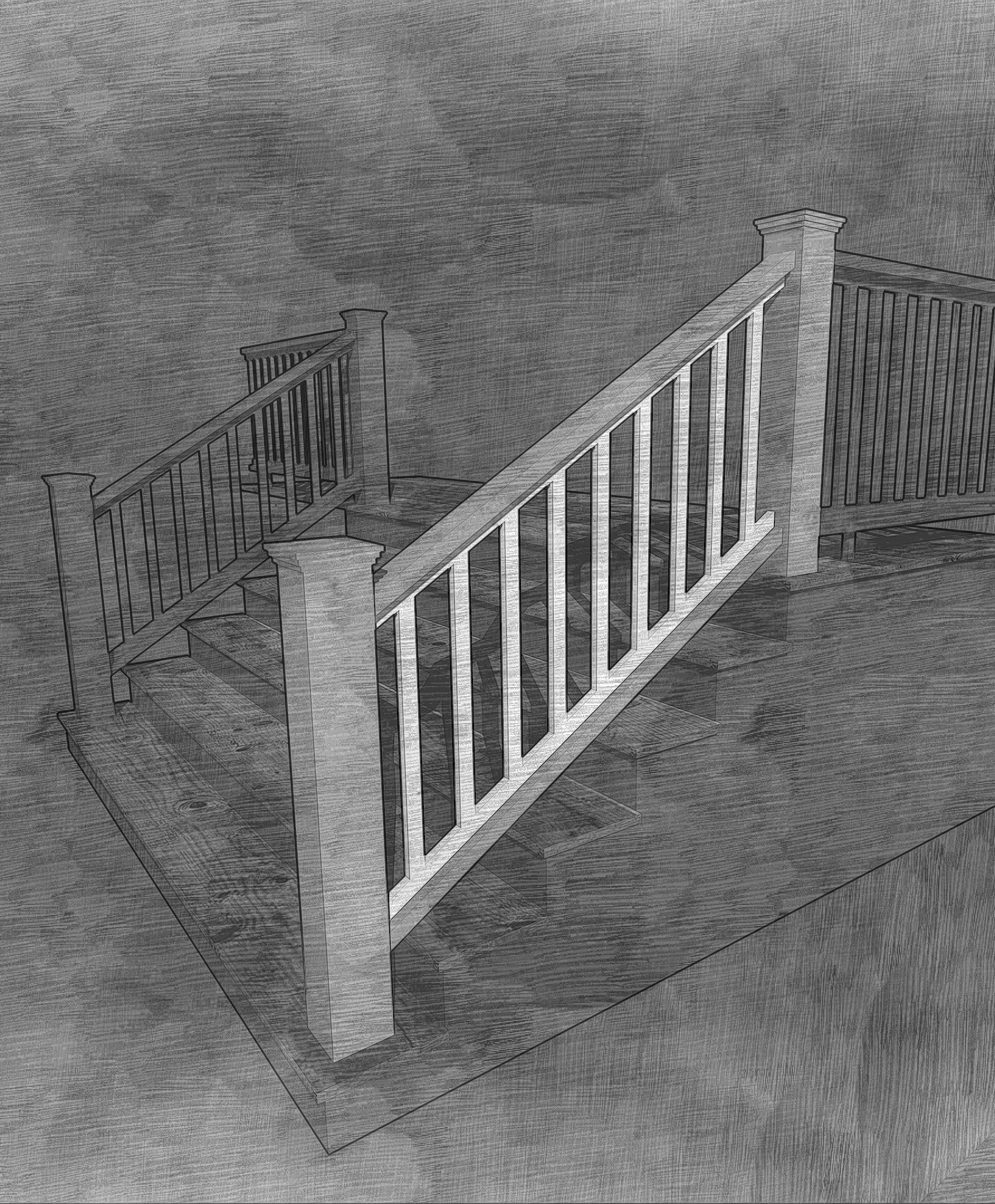 The Picket Stair Panel