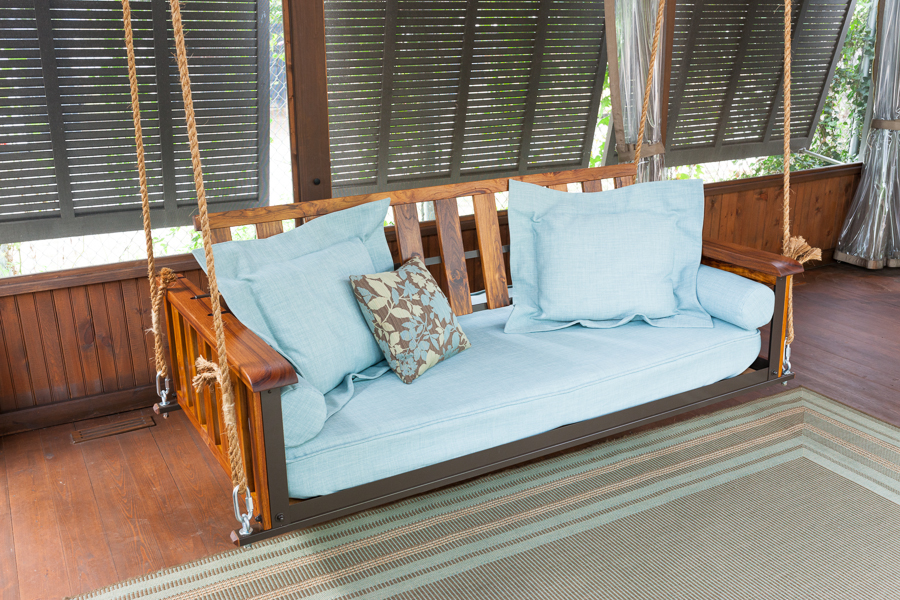 The craftsman teak the porch companythe porch company for Outdoor swing bed