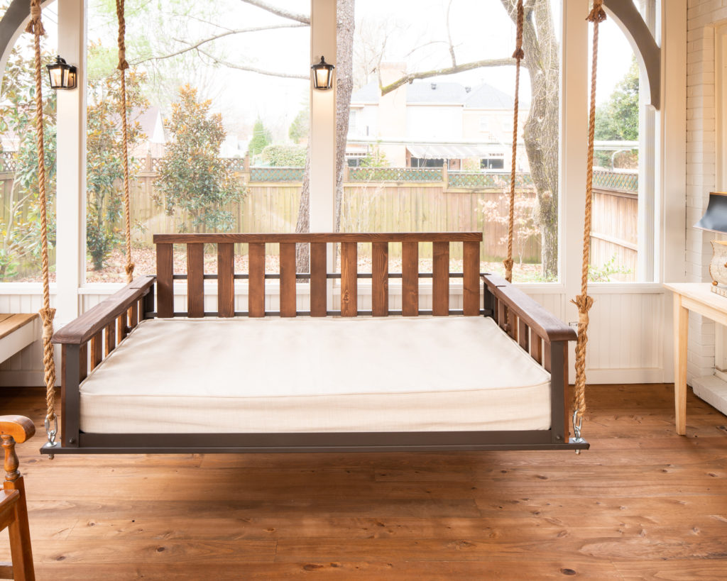 Craftsman style Porch swing bed by PorchCo.