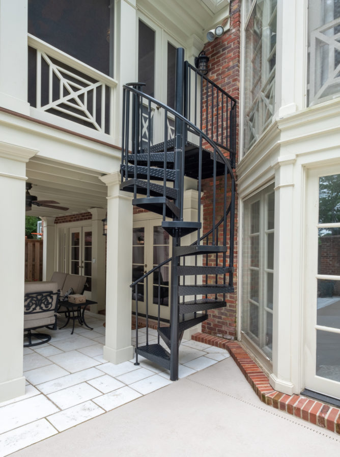 porch-screened-southern-cross-railing-doors-spiral-staircase