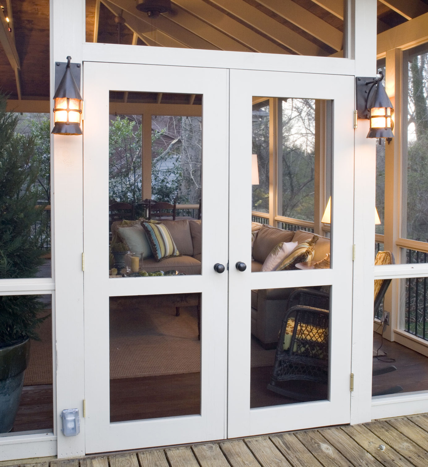 Open Double Screen Doors - The Porch Company