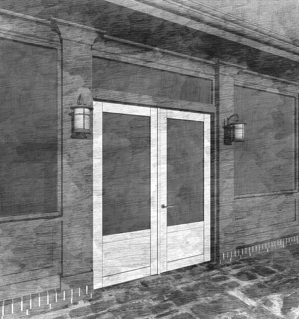 Double Screen Doors : Flat paneled double screen doors the porch companythe