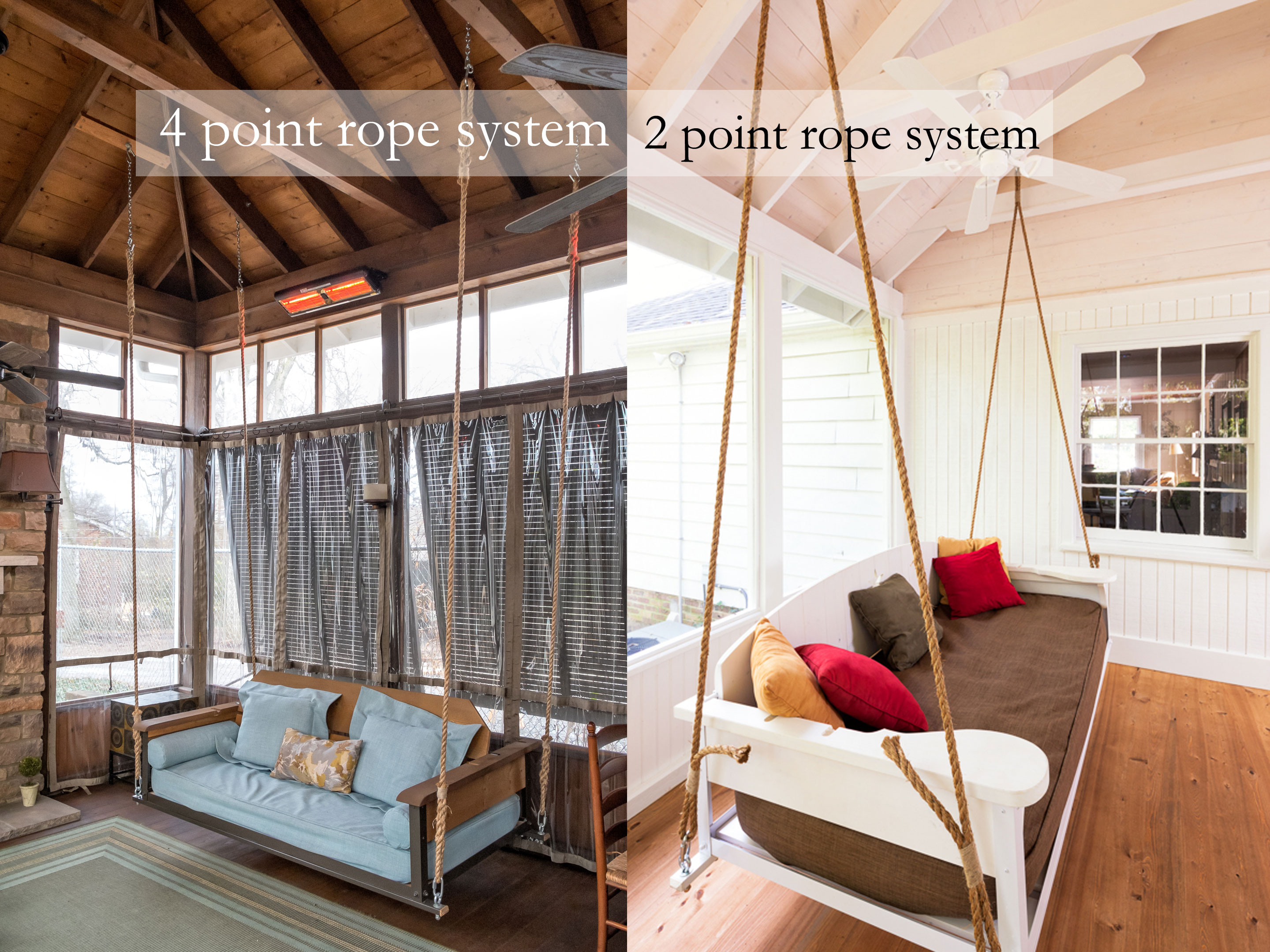 Diy Bedroom Decorating Ideas For Teens Swing Bed Hanging Rope The Porch Companythe Porch Company