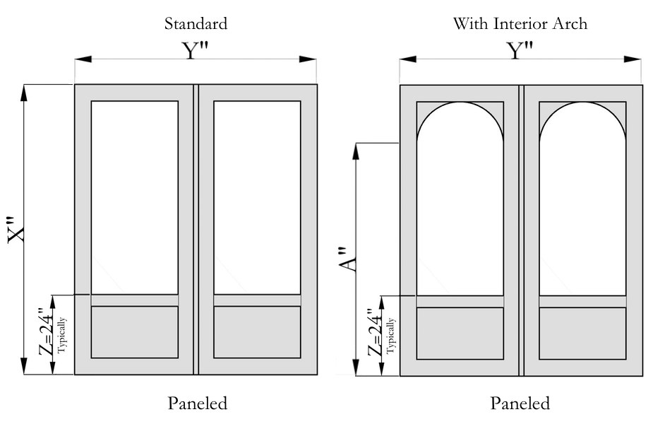 Paneled style double doors the porch companythe porch for Double wide french doors