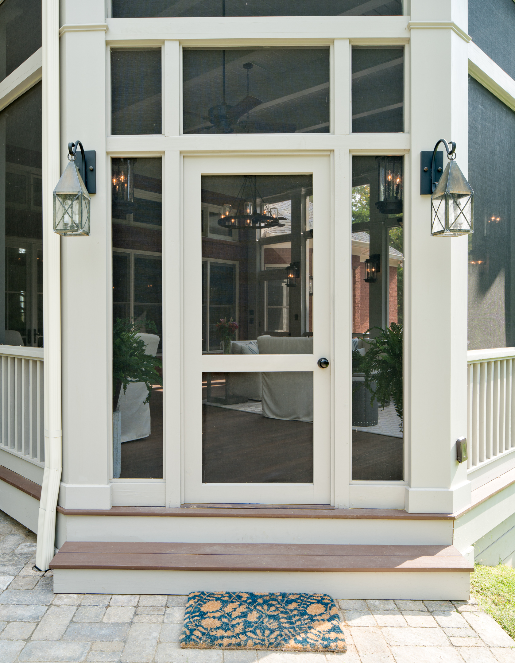 Open Single Screen Door The Porch Companythe Porch Company