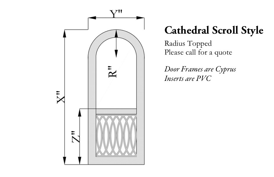 Cathedral Scroll Single Screen Door The Porch Companythe Porch Company