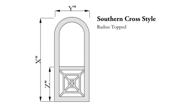 Southern Cross Door Radius Topped