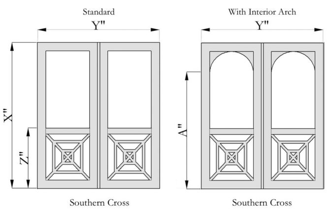 Southern Cross Style Double Wooden Screen Doors
