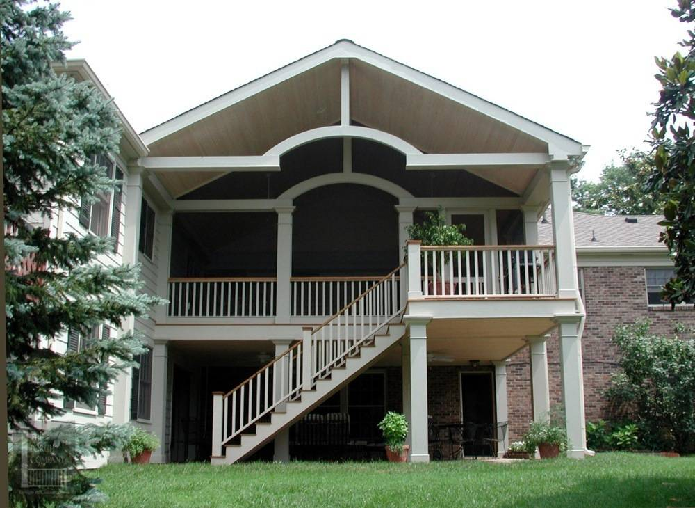 Pictures of double wide with gable roof with porch joy for Double front porch house plans