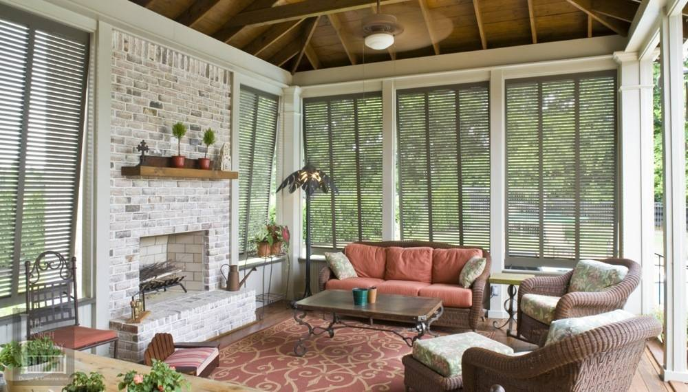 ... Porch Lit Gable Interior With Shutters ...
