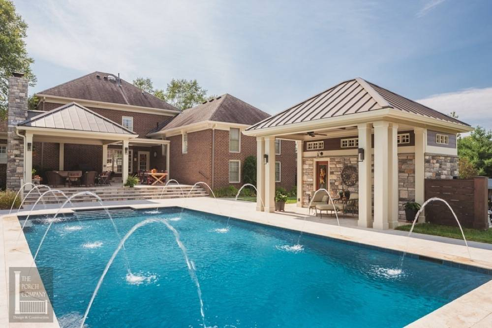 open pool house. Pool House And Open Air