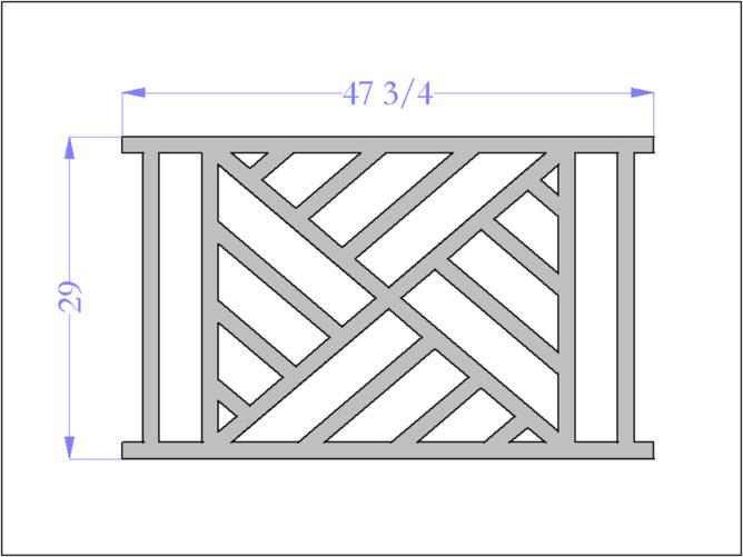 Chippendale III Railing Panel