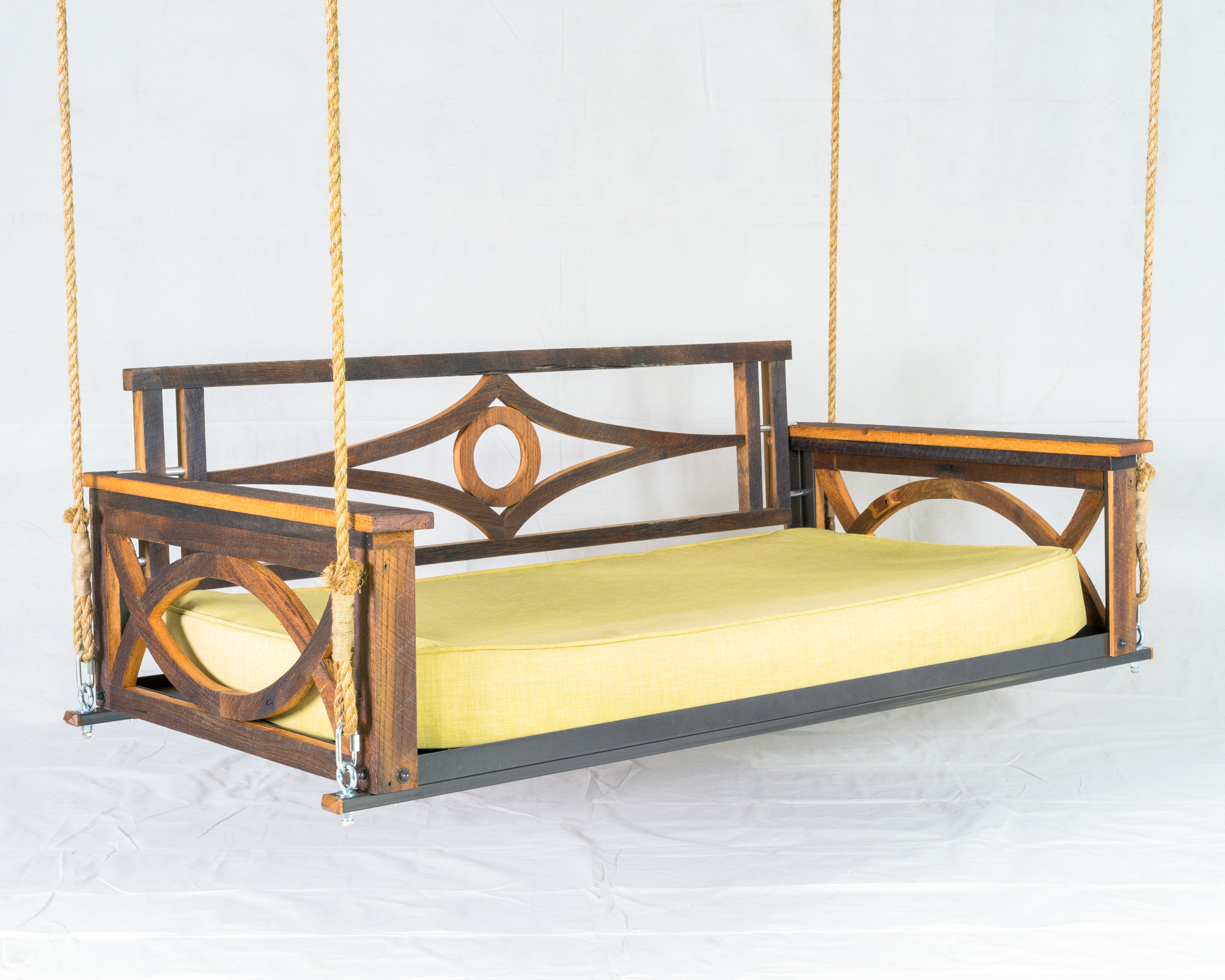 Picture of: Barn Wood Bed Swing The Porch Company