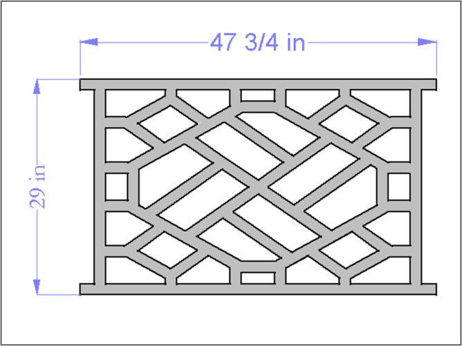 PVC Chinese Railing Panel
