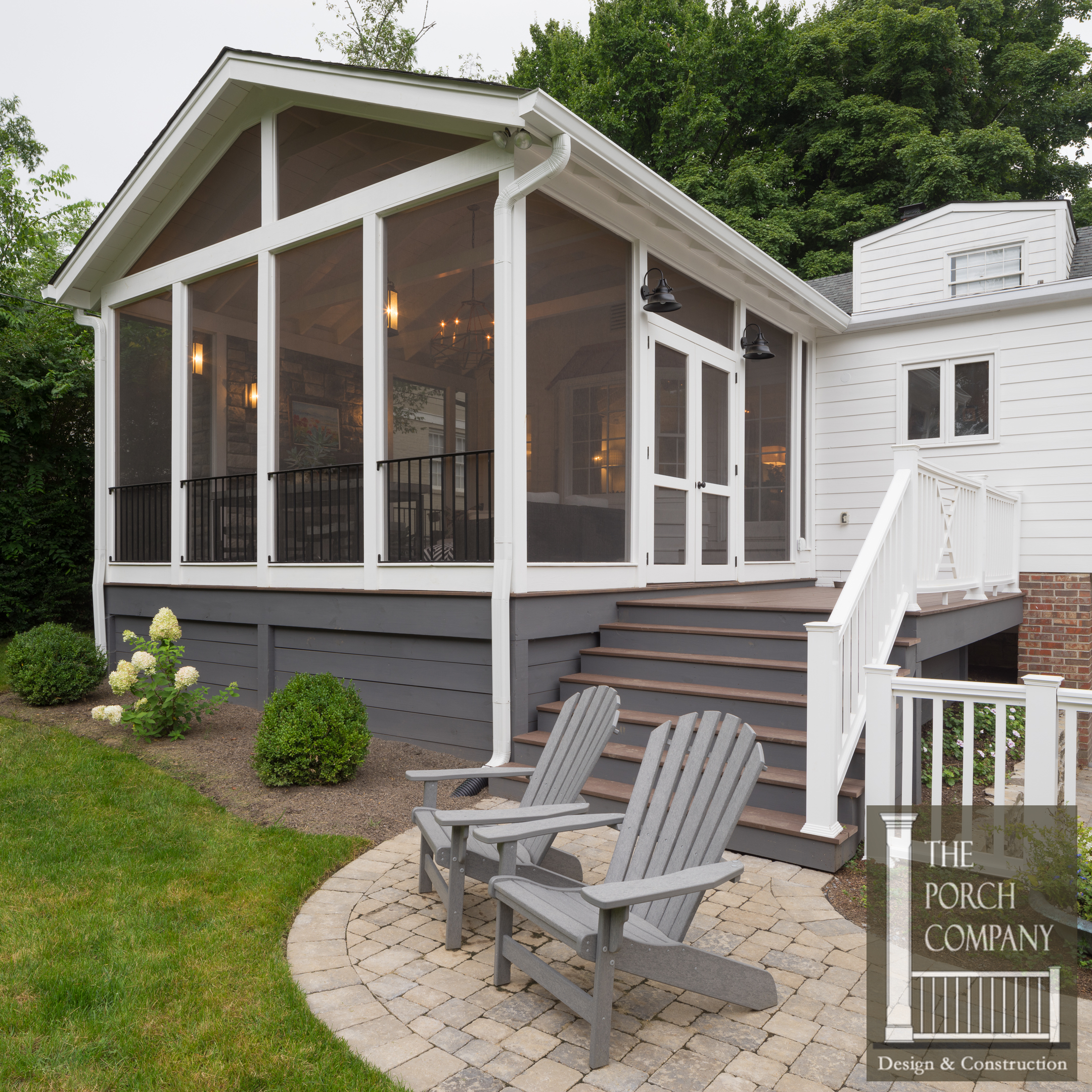Screened porch and garage oasis the porch companythe for Garage deck