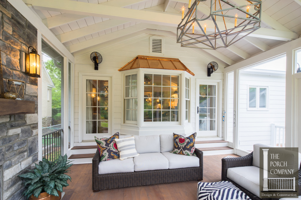Screened Porch and Garage Oasis - The Porch CompanyThe ... on Large Back Porch Ideas id=28211