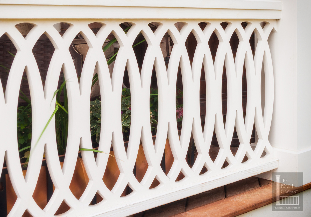 PVC railing panel from The Porch Company