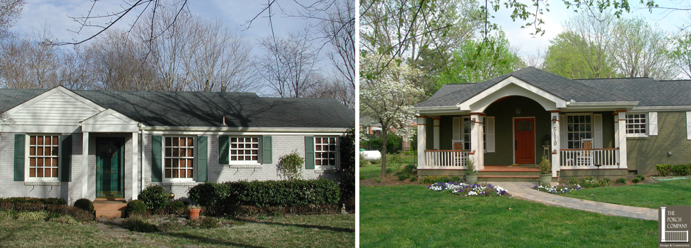 Nashville House Before After New Screened Porch