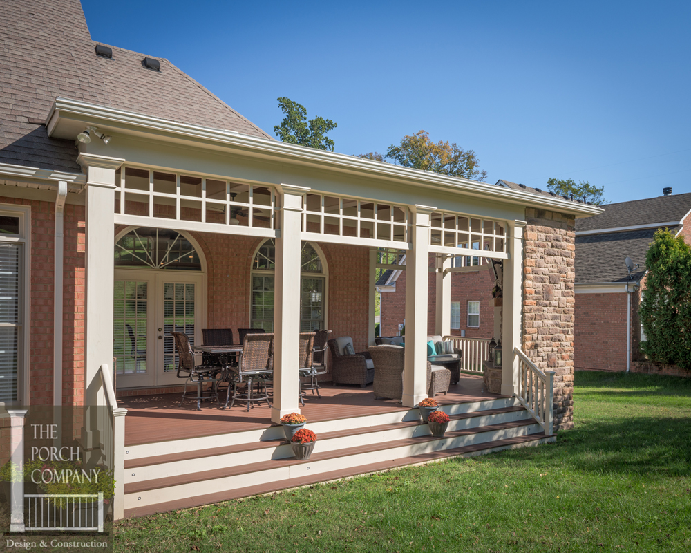 The long and short of it the porch companythe porch company for Open porch roof designs