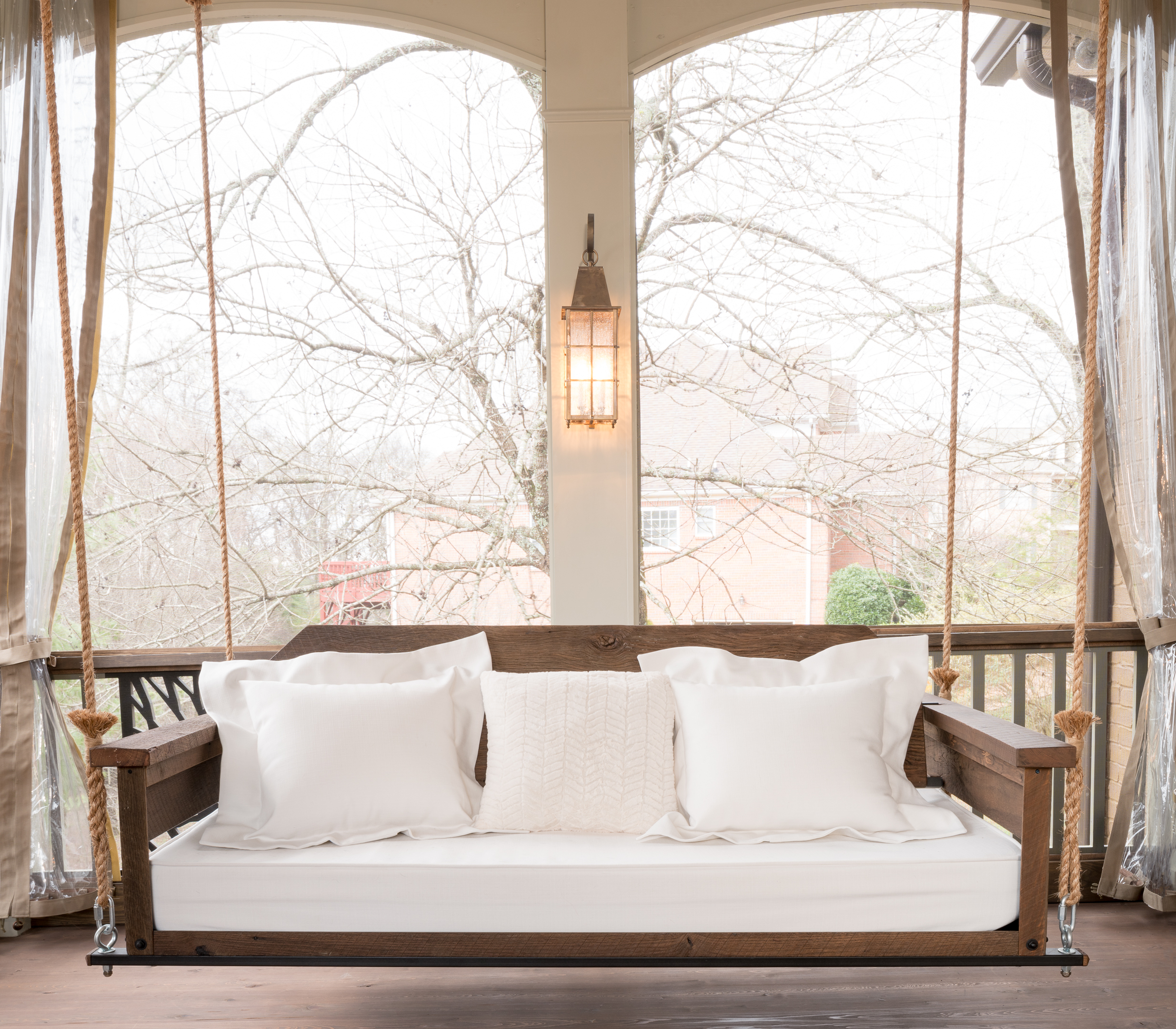 The lynnville farm bed swing the porch companythe porch company bed swing dimensions solutioingenieria Images