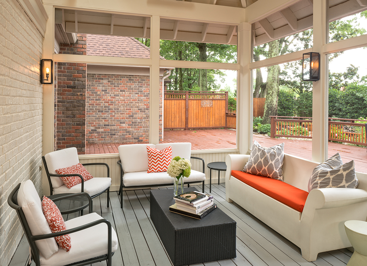 Brown Screened Porch : Is your old deck brown and out the porch companythe