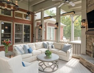 porch-screened-interior-decor-fireplace-mantel-750