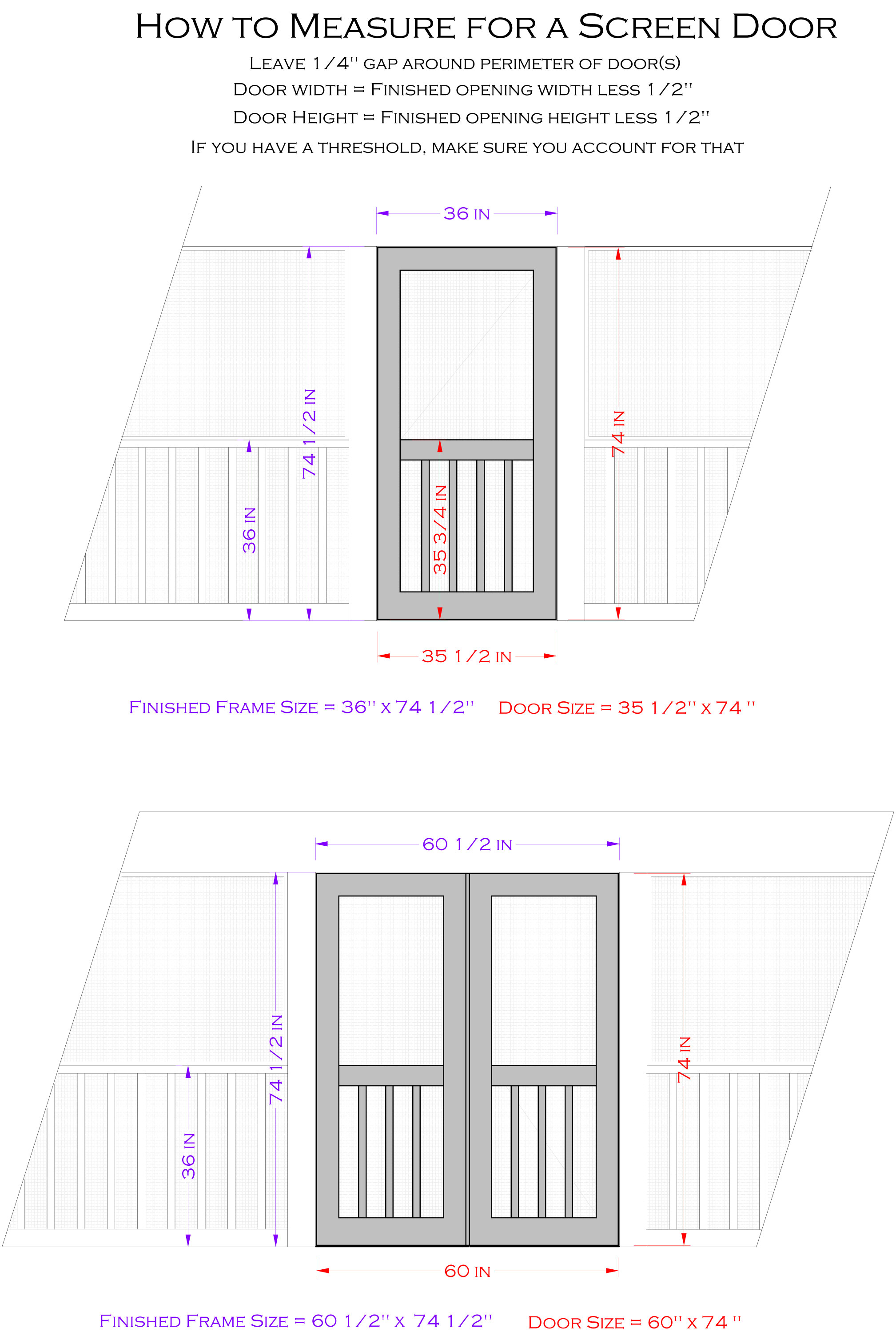 How to measure for a screen door. Double Doors Archives   The Porch CompanyThe Porch Company