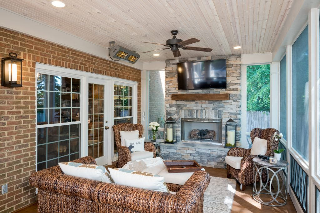 Green Hills TN Screened Porch Interior