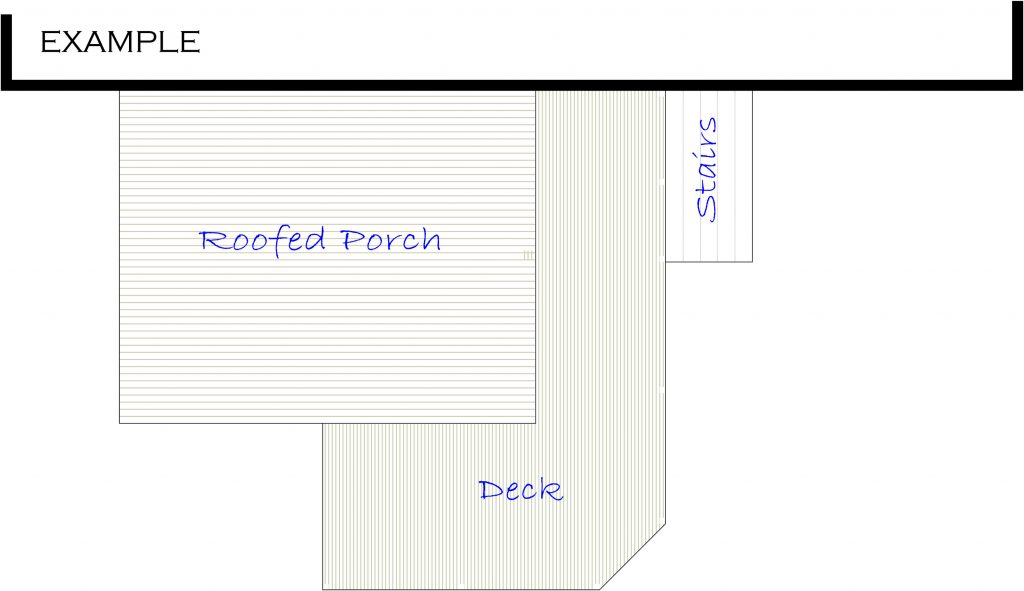 Example of a property's plot plan