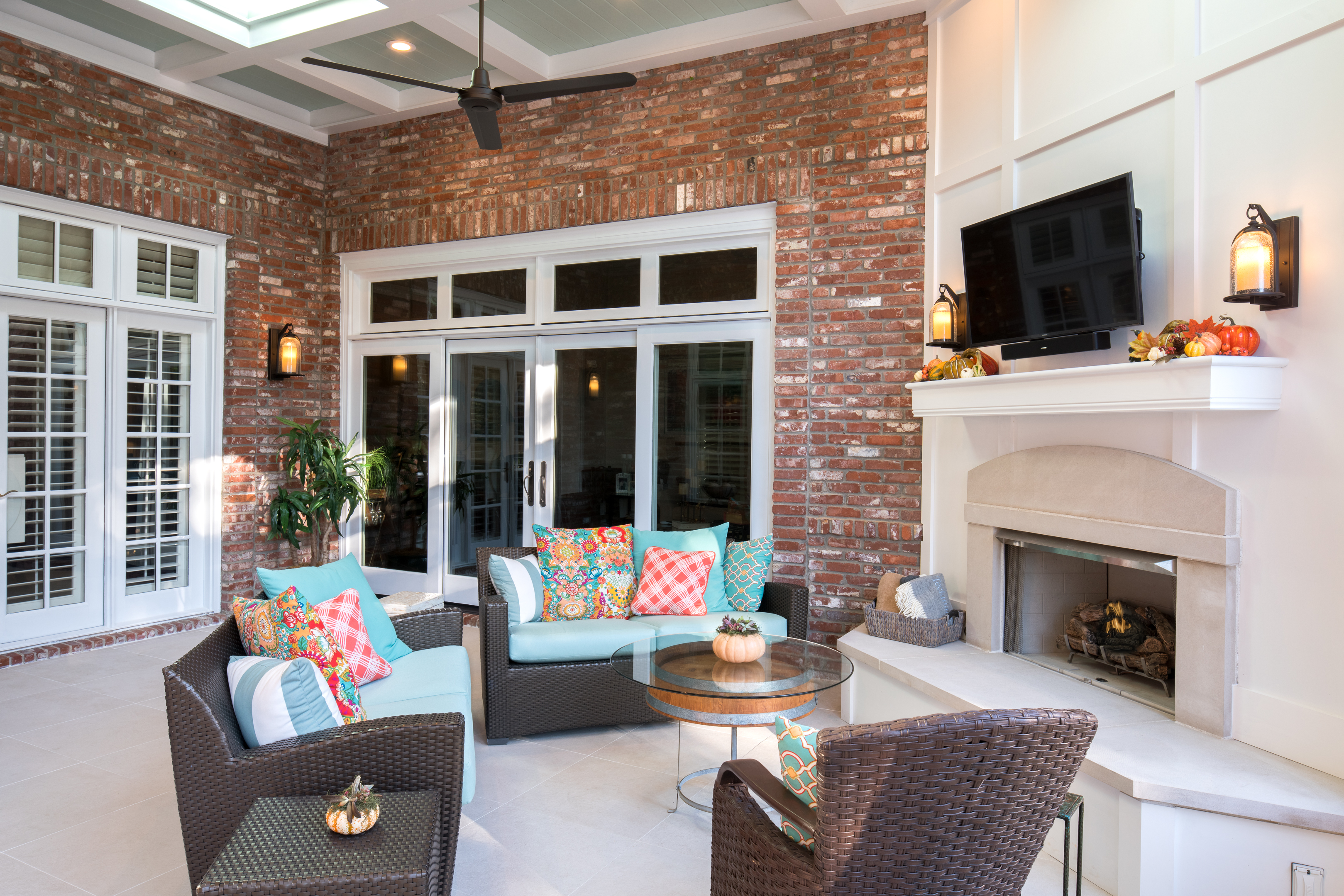 space and the expansion limestone pool to wood a porch aesthetic case column house store with simple for cut hearth design whonphoto caps complementary fireplace indy finish