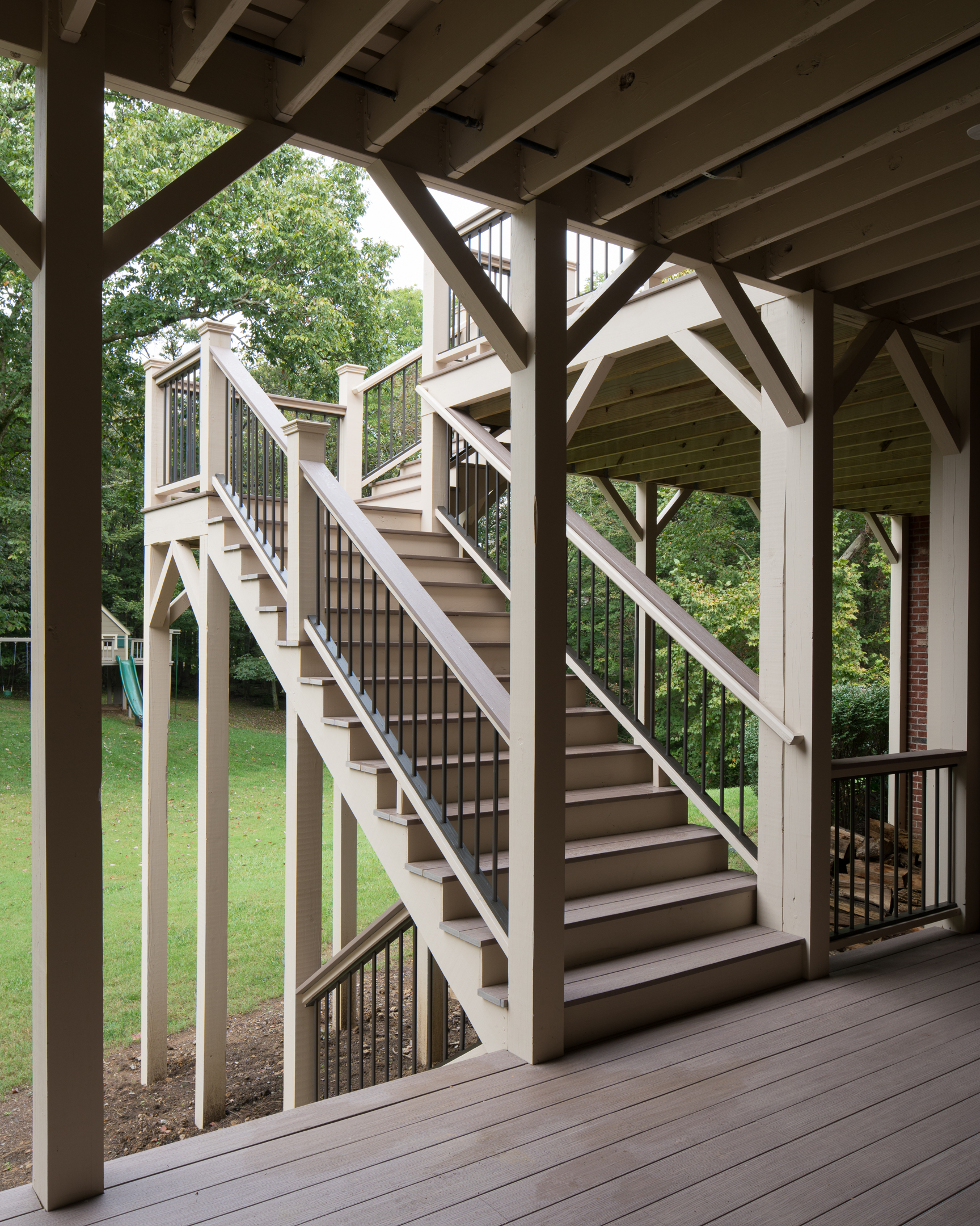 Porch Screened Deck Stairs Aluminum Picket Azek Bis 16