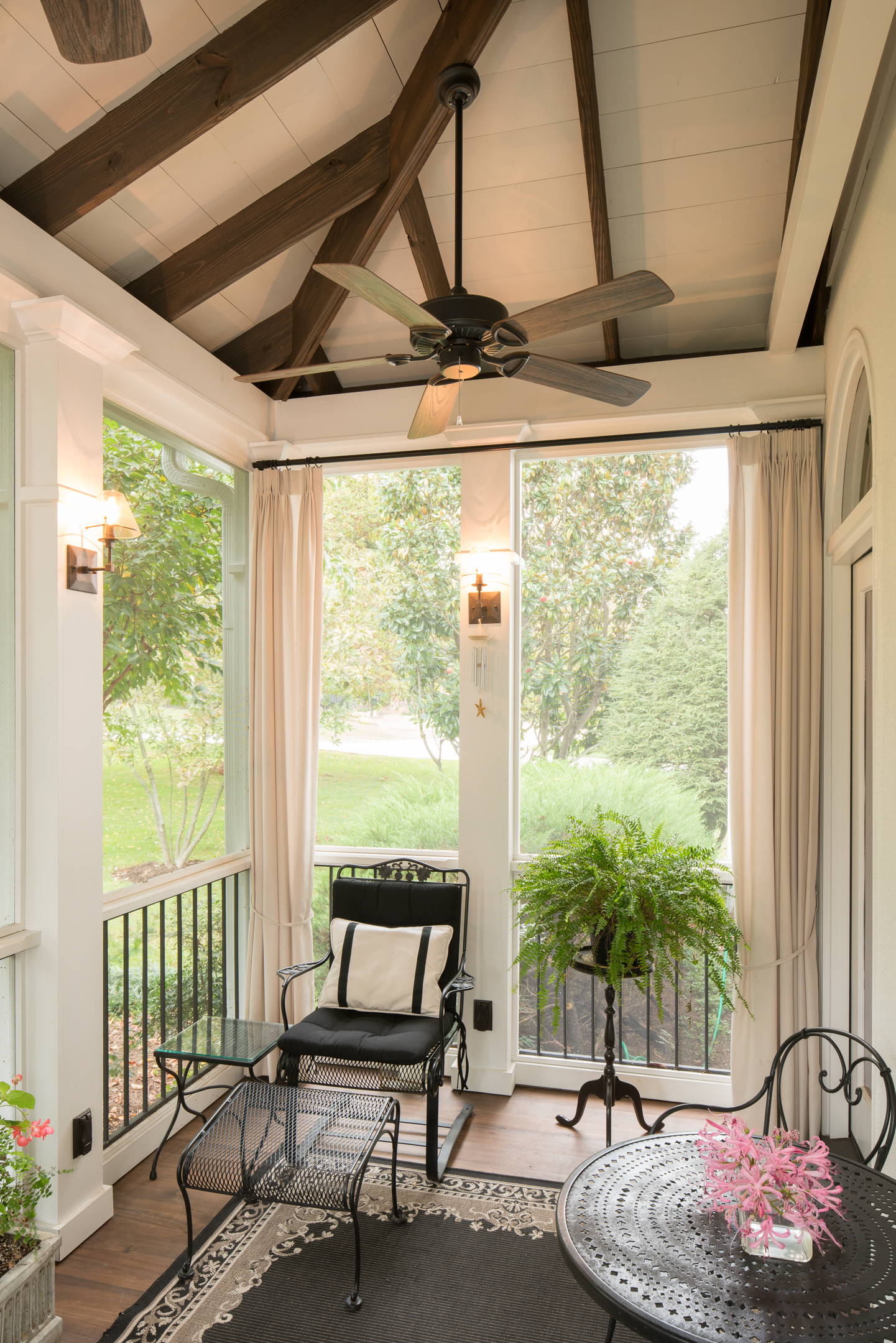 Screened Porch Exposed Beams : Atthe porch companyour deck and screened combos are