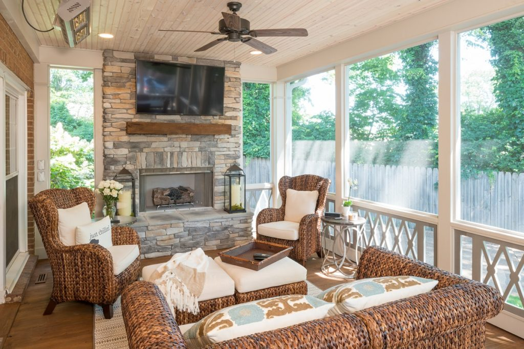 Ways to heat your screened porch by the porch company