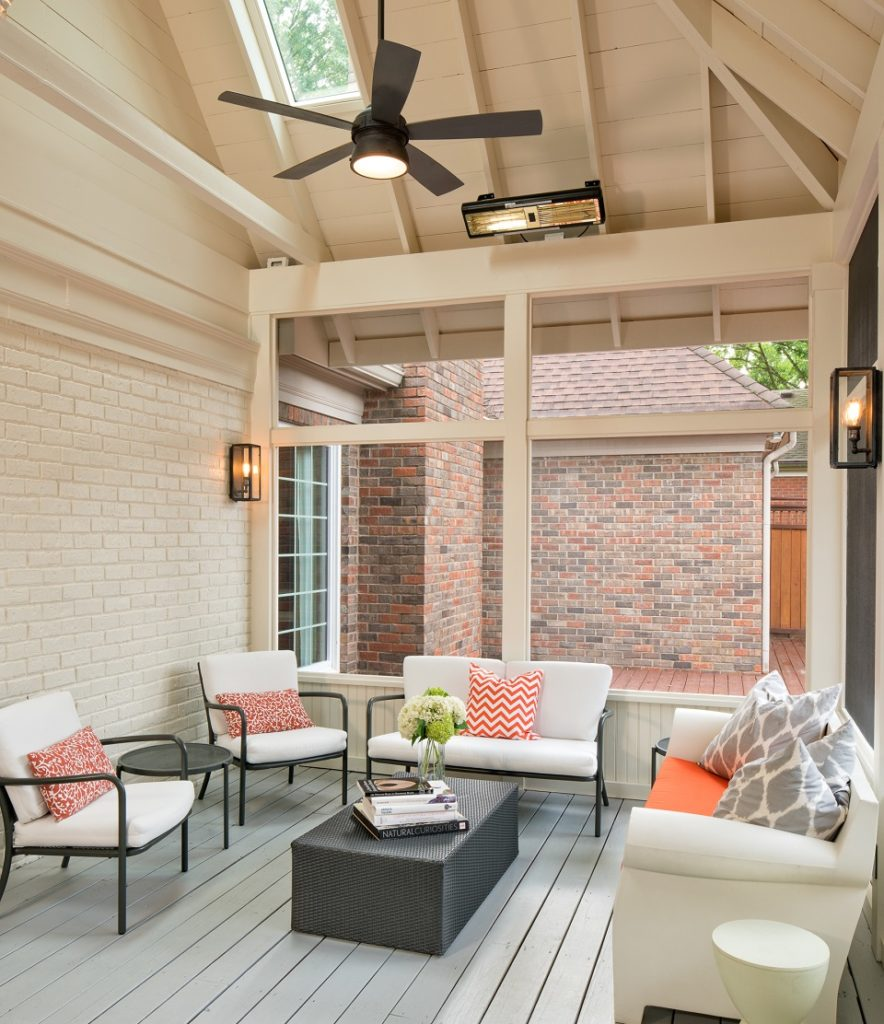 exposed rafter screened porch by the porch company