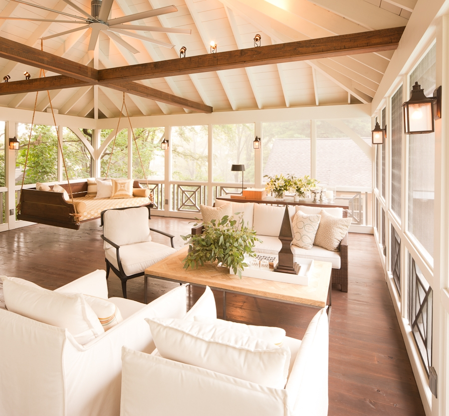 Screened-porch-beams-fan