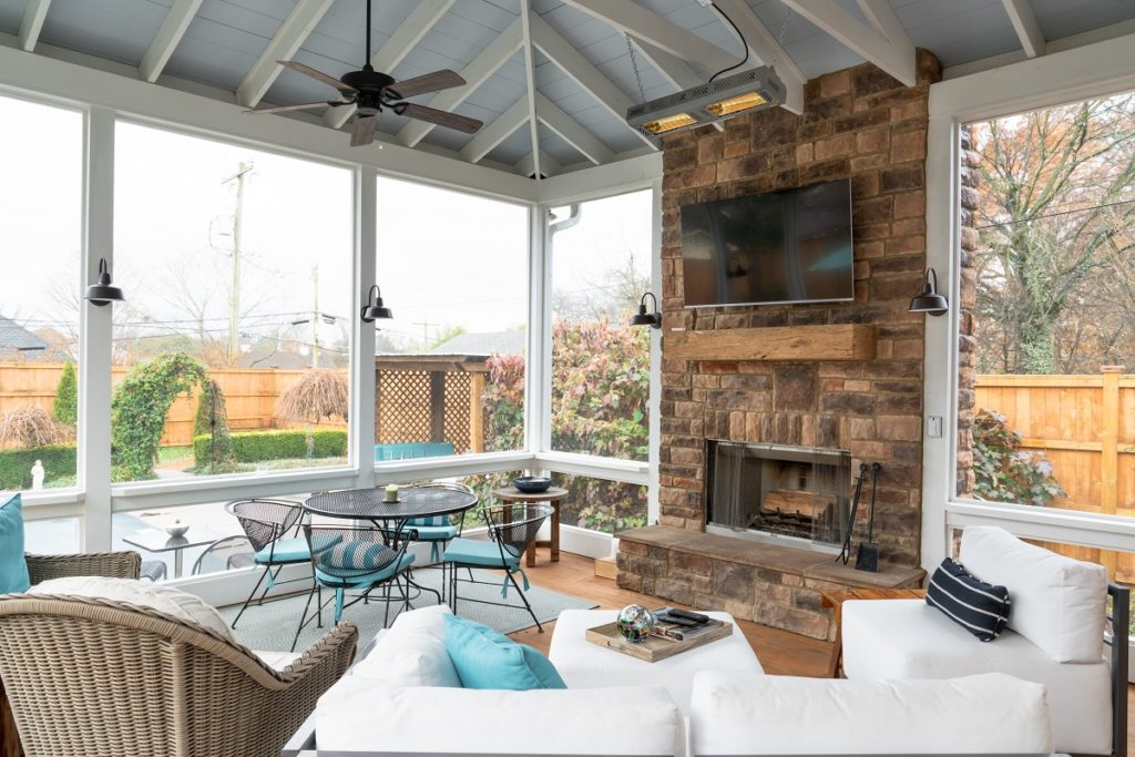 West Nashville Screened Porch Interior
