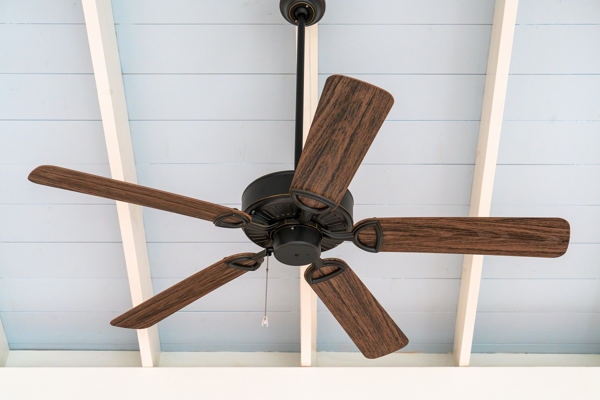 west nashville ceiling detail with brown ceiling fan