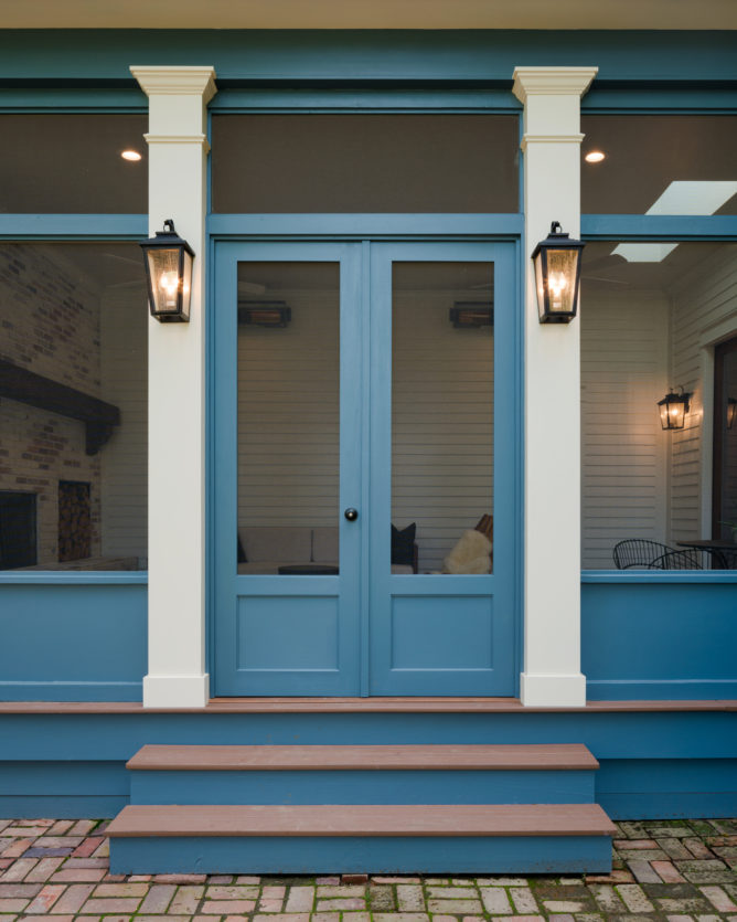 porch-screened-double-paneled-cypress-door-blue-