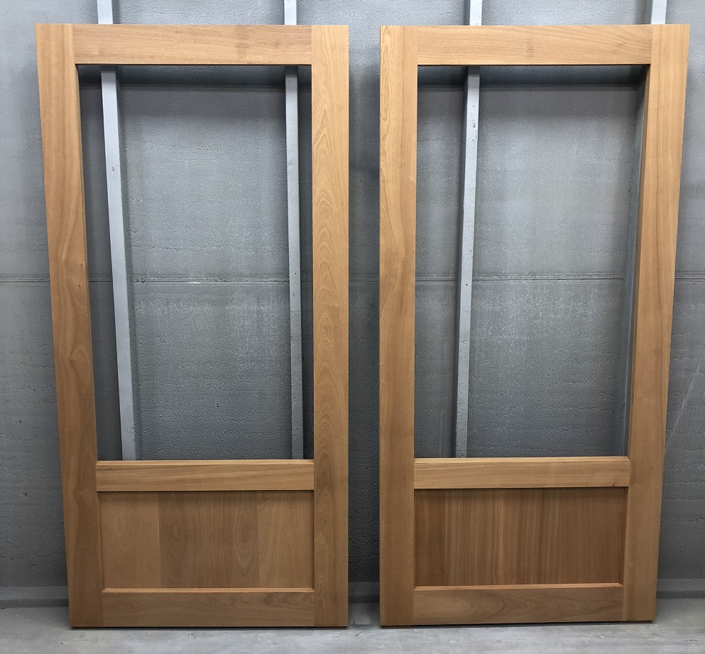 sapele wood screen doors