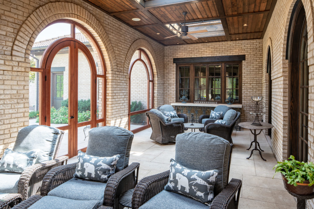 Custom screened loggia openings by The Porch Company