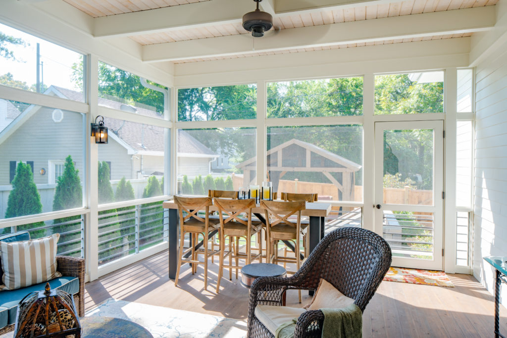 serene and restful screened porch in 12 south